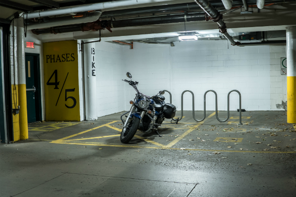 New parking garage lighting improves visibility and safety