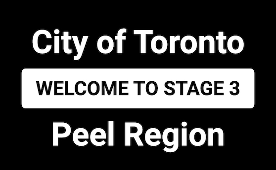 Ontario regions of Toronto, Peel moving to Stage 3 on July 31