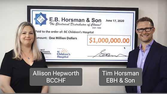 EBH & Son concludes best-ever fundraising year for BC Children's Hospital Foundation
