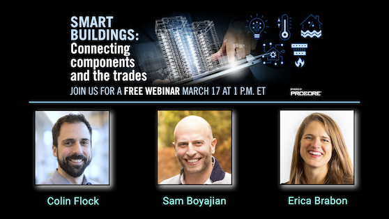 Smart buildings: Connecting components and the trades